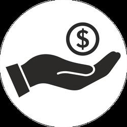 Money In Hand Sticker
