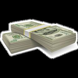 Money Stacks Sticker
