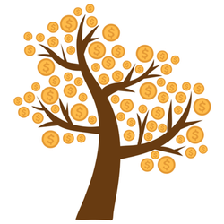 Money Tree With Coins Sticker