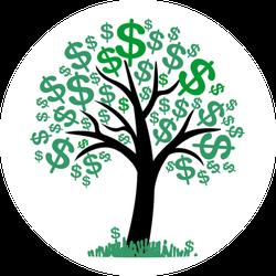 Money Tree With Dollar Signs Sticker