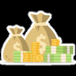 Moneybags Sticker