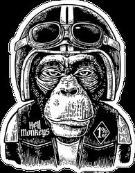 Monkey Biker Sticker