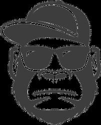 Monkey Gorilla With Sunglasses And Cap Sticker