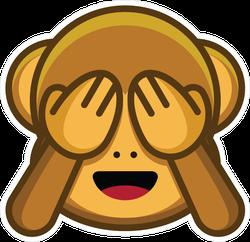 Monkey Hiding Face Emoji Sticker