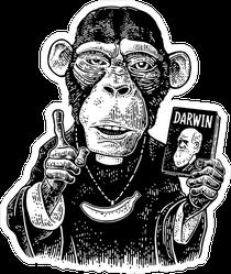 Monkey Priest With Banana Chain Sticker