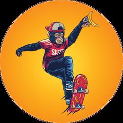 Monkey Skater Design Art Sticker