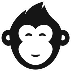Monkey Smile Face Icon Sticker