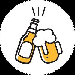 Monoline Beer Icons Sticker