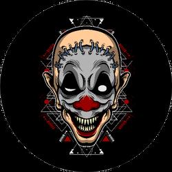 Monster Clown Scary Design Sticker