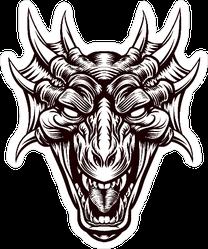 Monster Dragon Head Sticker