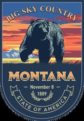 Montana Banner Sticker