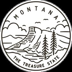 Montana Rocky Mountains Sticker