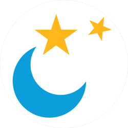 Moon and Stars Icon Sticker
