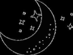 Moon And Stars Night Sticker