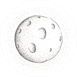 Moon Illustration Sticker