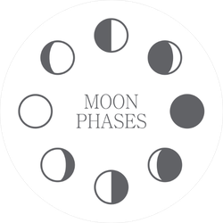 Moon Phase Icons Sticker