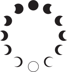Moon Phases Astronomy Sticker