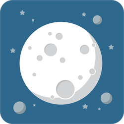 Round Corner Moon With Craters Sticker