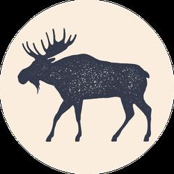 Moose, Side View Profile Sticker