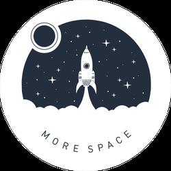 More Space Sticker