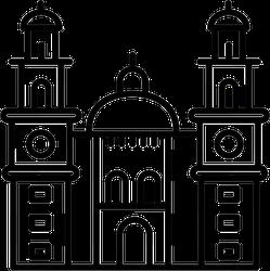Morelia Cathedral In Mexico Sticker