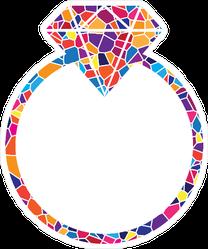 Mosaic Diamond Ring Sticker
