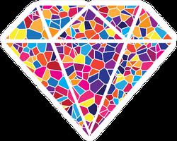 Mosaic Diamond Sticker
