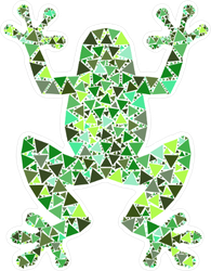 Mosaic Frog Sticker