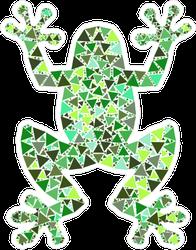 Mosaic Frog Sticker