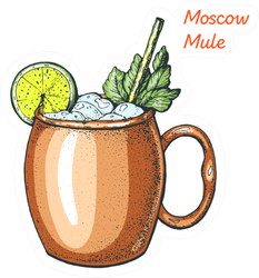 Moscow Mule Cocktail Sticker