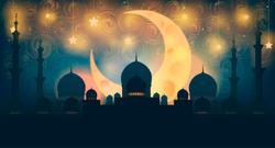 Mosque Silhouette Crescent Moon Sticker