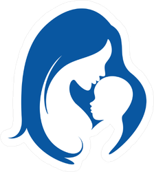 Mother And Baby Silhouette Sticker