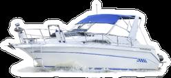 Motor Boat On White Sticker