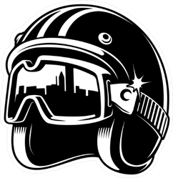 Motorcycle Helmet and Goggles Sticker