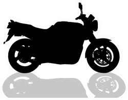Motorcycle Illustration On White Background Sticker