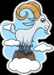 Mountain Goat Illustration Sticker