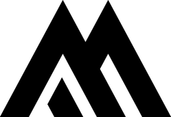 Mountain Letter M Logo Sticker