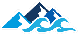 Mountain Ocean Sticker