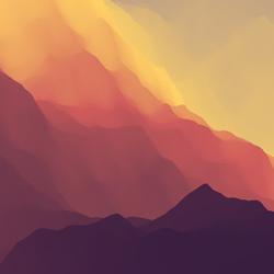 Mountainous Landscape Terrain Sticker