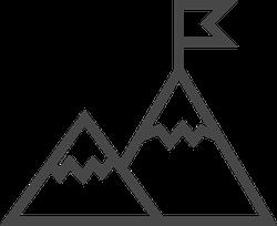 Mountains Thin Line Icon Sticker