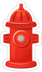 Red Fire Hydrant Sticker