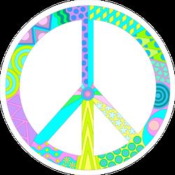 Multicolored Peace Sign Sticker