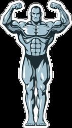 Muscle Bodybuilder Man Flexing Sticker