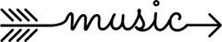 Music Arrow Sticker