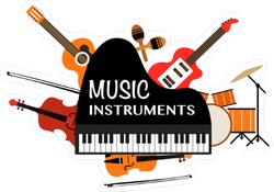 Music Instrument Collection Sticker