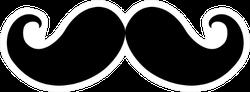 Mustache Black Icon Sticker