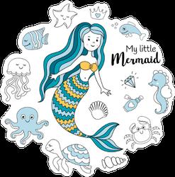 My Little Mermaid Sticker