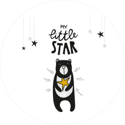 My Little Star Baby Bear Sticker