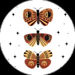 Mystic Moths And Butterflies Sticker