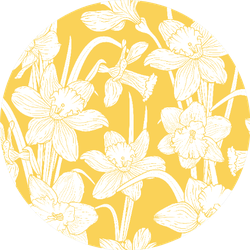 Narcissus Daffodils Seamless Spring Floral Pattern Sticker